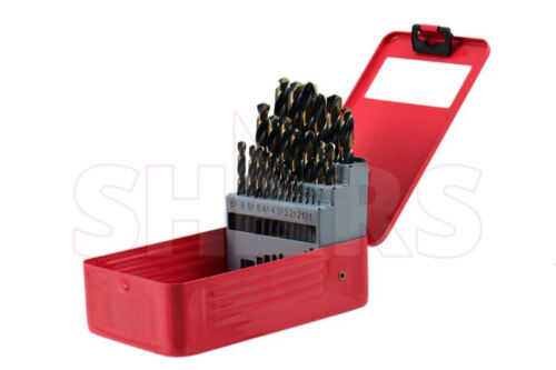 Shars 25Pcs HSS6542 1-13mm by 0.5mm Jobber Drill Set Increased 2.62 Times New P}