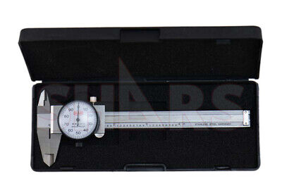 Shars 4 Dial Caliper Shock Proof .001 Stainless 4 Way Inspection Report P