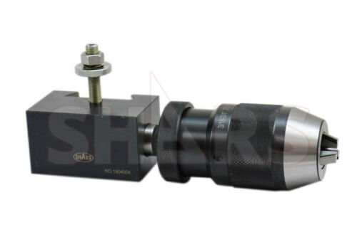 "SHARS 13-18"" Quick Change Tool Post CXA 3/16-3/4"" Keyless Drill Chuck Holder New"
