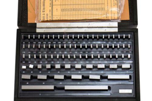 SHARS 81 PCS GRADE AS-2 GAGE GAUGE BLOCK SET NIST CERTIFICATE