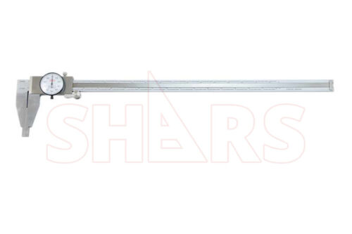 """SHARS 18"""" STAINLESS STEEL LONG RANGE DIAL CALIPER HEAVY DUTY NEW"""