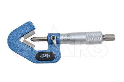 Shars 0.04-0.6 60 Degree 3 Flure V-anvil Micrometer Accuracy .00016 New P