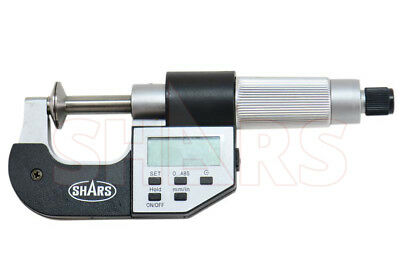 "SHARS 1-2/"" DIGITAL DIGIT  MICROMETER .001mm// .00005/"" FLAT SPINDLE NEW"