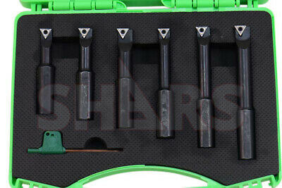 Shars 58 Shank 6 Pieces Indexable Boring Bar Set W Free Tcmt Inserts New P