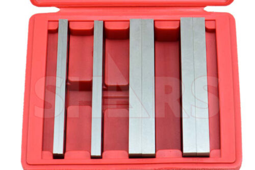 """1/2"""" 3/16"""" STEEL PARALLEL SET 4 MATCHED PAIRS PARALLELS .0003"""" HARDENED NEW"""