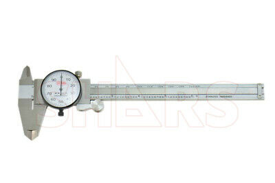 6 Dial Caliper Wmetric Scales Shock Proof .001 Stainless Inspection Report P