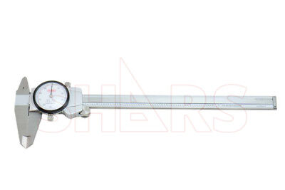 Shars 8 .001 Premium Series Shock Proof Stainless Steel Dial Caliper New
