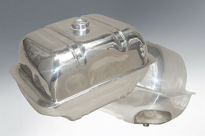 LAMBRETTA LONG RANGE TANK in STAINLESS WITH STAINLESS STEEL STRAPS