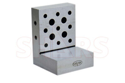 Shars 0.0002precision Toolmaker 4 X 3 X 3 X1 Precision Steel Angle Plate New R