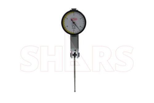 "Shars 1.25"" White Face Dial Test Indicator .030 0-15-0 .0005"" 44mm Long Probe !]"