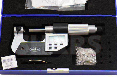 Shars 0-1 Electronic Screw Thread Micrometer 60 Degree V-anvils .00005 New