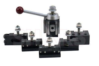 Shars 6 - 12 Cnc Lathe Axa Piston Quick Change Tool Post Set 250-100 New