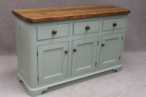 RECLAIMED PINE KITCHEN UNIT FARROW BALL PAINTED BASE LEDBURY EBay