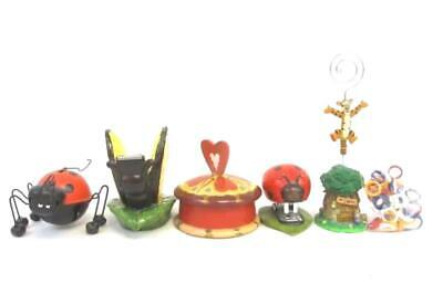 Lot Of 5 Insect And Animal Office Supply Decor Items Ladybug Butterfly Tigger
