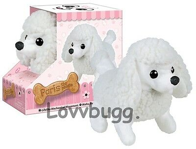 Lovvbugg Poodle Puppy Dog Moves Barks For 18 Inch American Girl Doll Pet Accessory