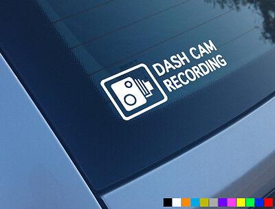 DASH CAM RECORDING CAR STICKER DECAL WINDOW FUNNY BUMPER CCTV HD CAMERA CAM