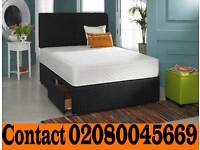 Brand New Single Double Small Double & King Size Divan Bed With Mattress