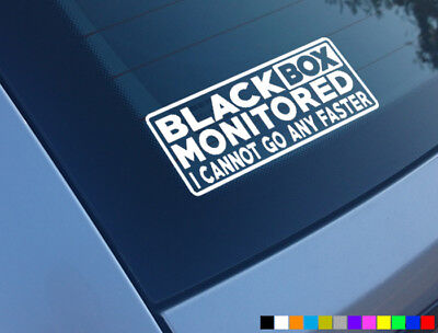 BLACK BOX MONITORED FUNNY CAR STICKER DECAL YOUNG DRIVER BUMPER WINDOW VINYL