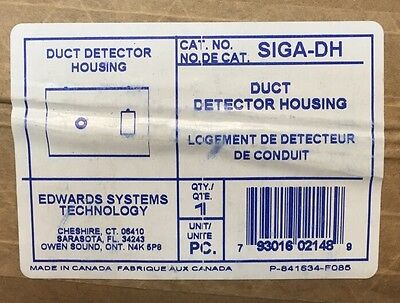 Est Edwards Systems Technologies Siga Dh Duct Detector Housing   New
