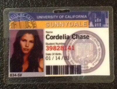 Buffy Vampire Slayer ID Badge-Sunnydale Cordelia Chase prop costume cosplay