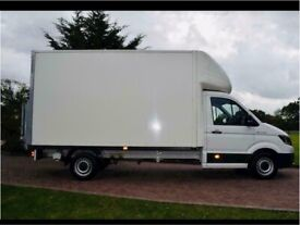 Man with van house removal office commercial moving sofa furniture delivery man and van