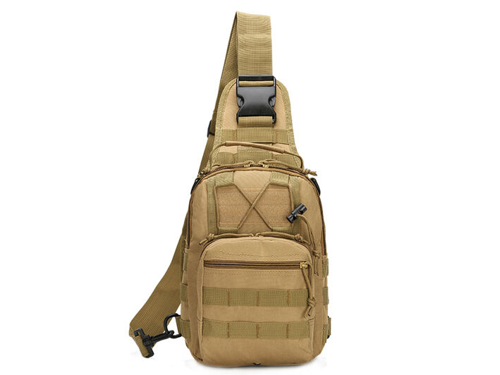 Outdoor Shoulder Military Tactical Backpack Travel Camping  Hiking Trekking Bag Khaki