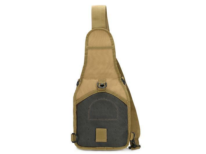Men Backpack Molle Tactical Sling Chest Pack Shoulder Bag Outdoor Hiking Travel 7