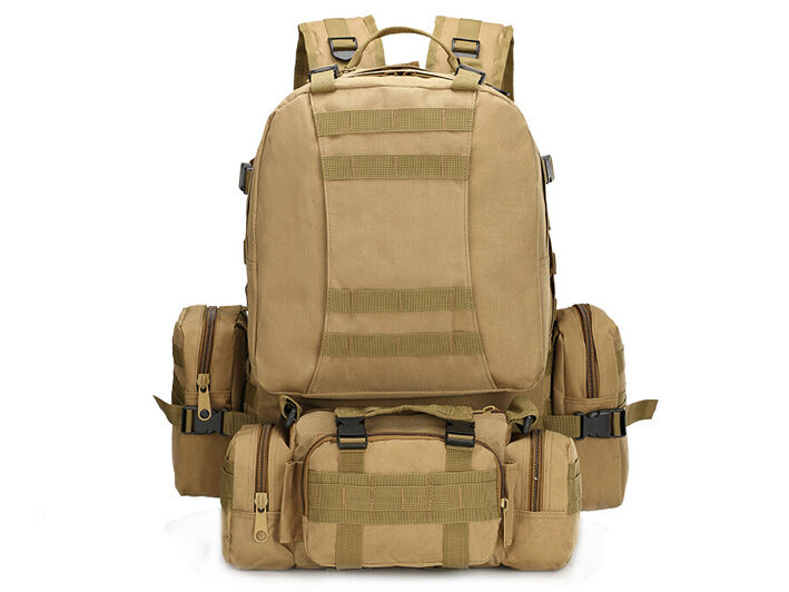 8L/10L/30L/55L/80L Outdoor Military Tactical Camping Hiking Trekking Backpack  55L Khaki