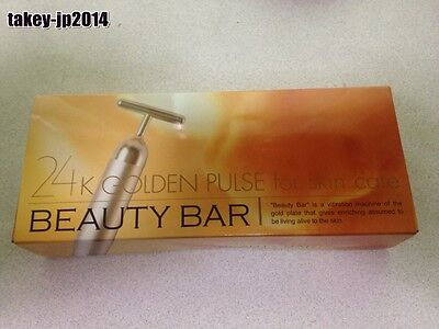 New Genuine Beauty Bar 24K Gold Facial Massager MC Biken Beautiful Face Japan