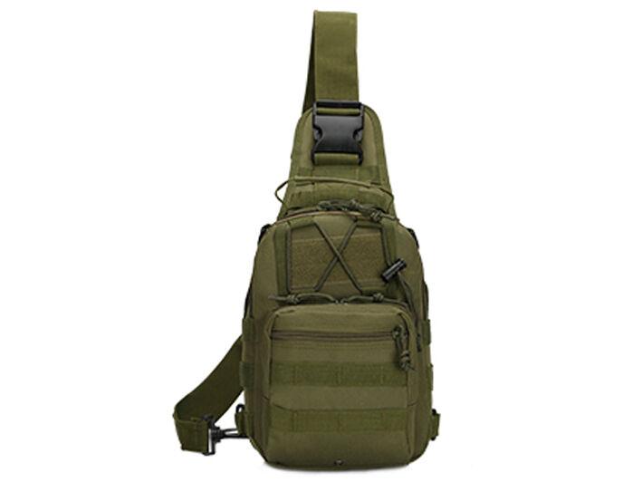 Outdoor Shoulder Military Tactical Backpack Travel Camping  Hiking Trekking Bag Green