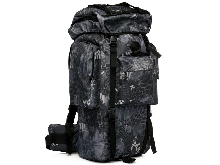 8L/10L/30L/55L/80L Outdoor Military Tactical Camping Hiking Trekking Backpack  80L Black Pythons Grain