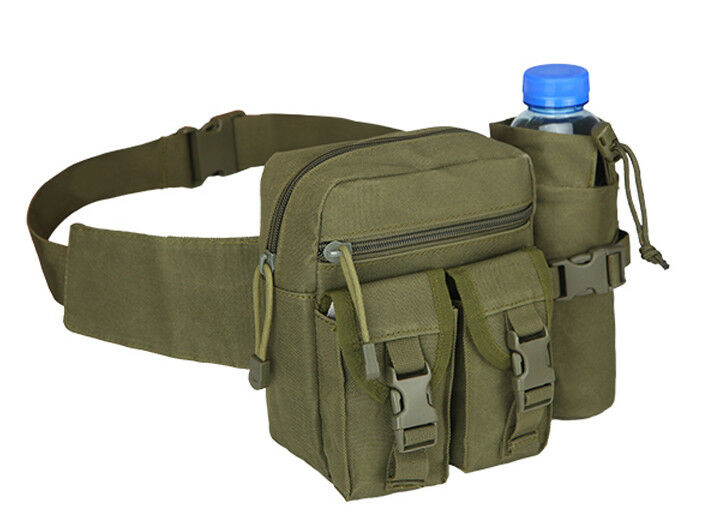 8L/10L/30L/55L/80L Outdoor Military Tactical Camping Hiking Trekking Backpack  3L Fanny Pack Green