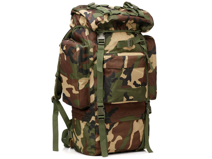 8L/10L/30L/55L/80L Outdoor Military Tactical Camping Hiking Trekking Backpack  80L Woodland Camo