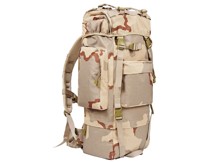 8L/10L/30L/55L/80L Outdoor Military Tactical Camping Hiking Trekking Backpack  80L Tri-Color Desert Camo