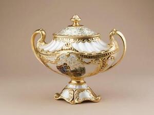 Jatta alzata biscottiera scatola via veneto ceramica oro for Oggetti arredo casa
