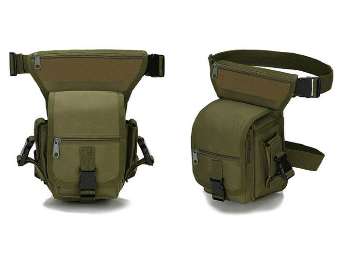 8L/10L/30L/55L/80L Outdoor Military Tactical Camping Hiking Trekking Backpack  2L Pouch Green