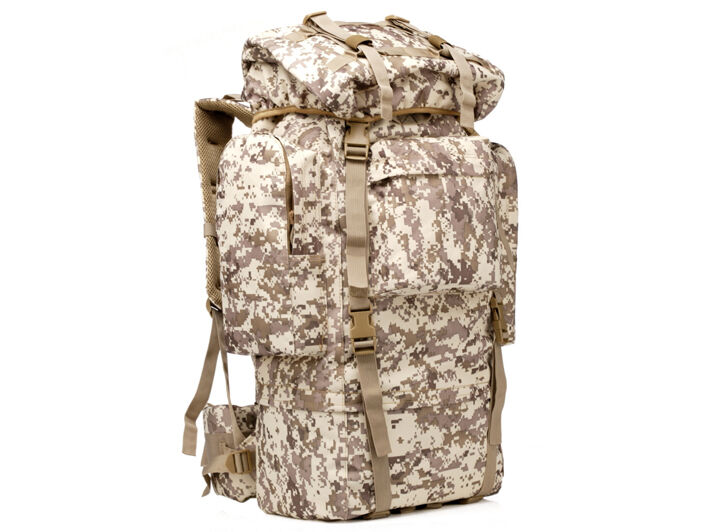 8L/10L/30L/55L/80L Outdoor Military Tactical Camping Hiking Trekking Backpack  80L Digital Desert Camo