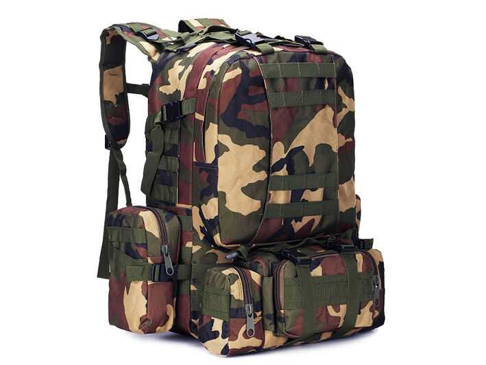 8L/10L/30L/55L/80L Outdoor Military Tactical Camping Hiking Trekking Backpack  55L Woodland Camo