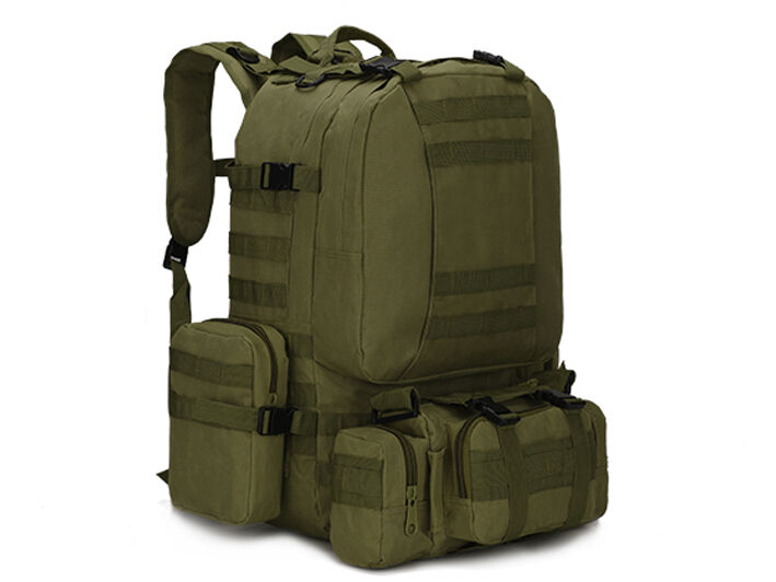 8L/10L/30L/55L/80L Outdoor Military Tactical Camping Hiking Trekking Backpack  55L Green