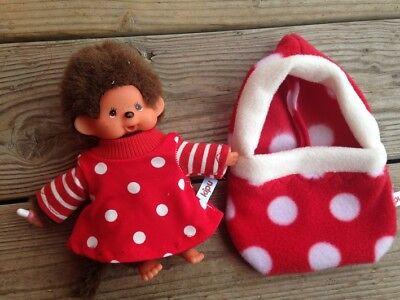 + Kleid für 15 - 16 cm Monchhichi Bebichichi Baby Chichi rot (Rotes Kleid Für Baby)