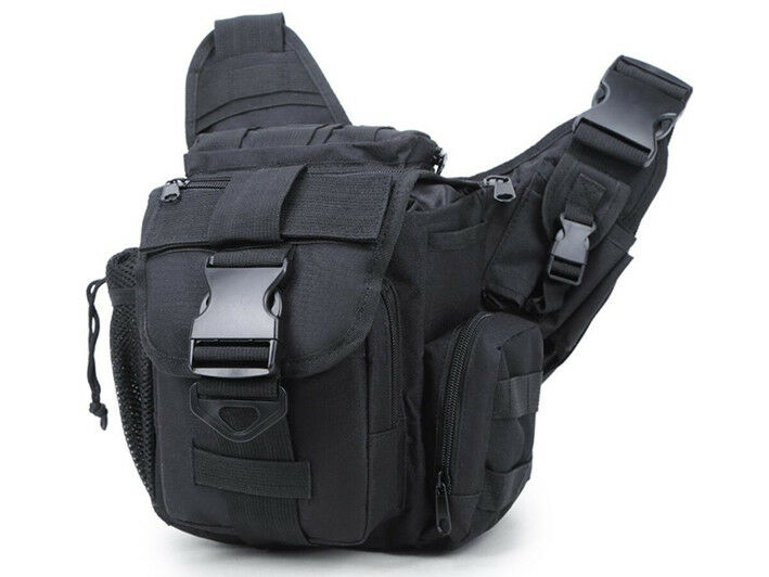 8L/10L/30L/55L/80L Outdoor Military Tactical Camping Hiking Trekking Backpack  6L Black