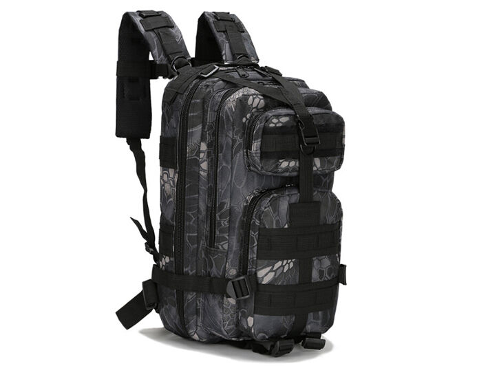 8L/10L/30L/55L/80L Outdoor Military Tactical Camping Hiking Trekking Backpack  30L Black Pythons Grain