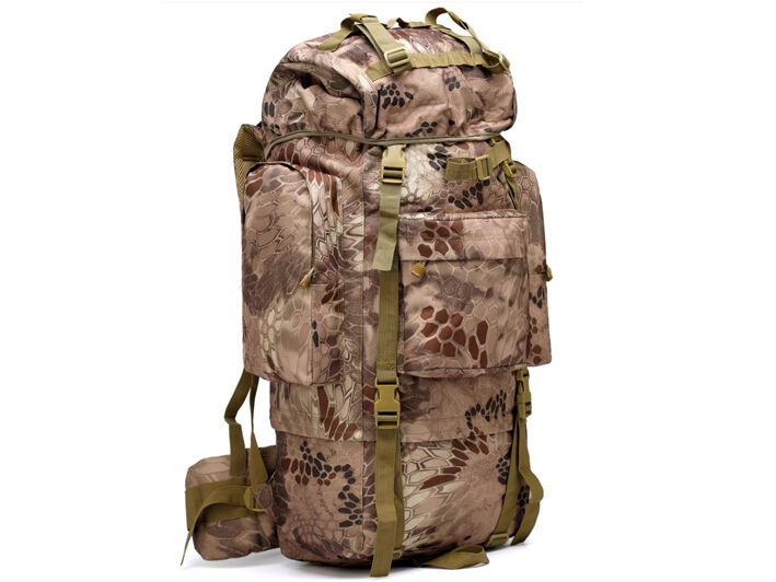 8L/10L/30L/55L/80L Outdoor Military Tactical Camping Hiking Trekking Backpack  80L Arid Pythons Grain