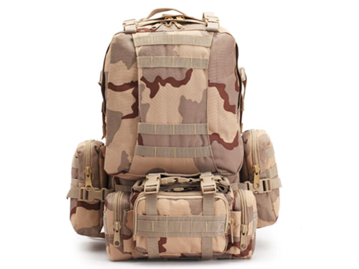 8L/10L/30L/55L/80L Outdoor Military Tactical Camping Hiking Trekking Backpack  55L Tri-Color Desert Camo
