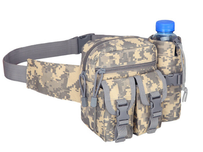 8L/10L/30L/55L/80L Outdoor Military Tactical Camping Hiking Trekking Backpack  3L Fanny Pack ACU