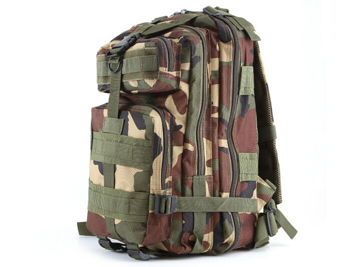 8L/10L/30L/55L/80L Outdoor Military Tactical Camping Hiking Trekking Backpack  30L Woodland Camo