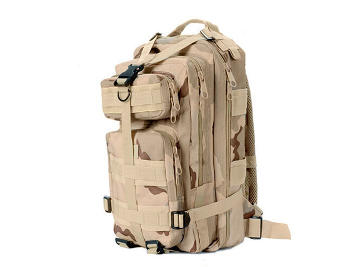 8L/10L/30L/55L/80L Outdoor Military Tactical Camping Hiking Trekking Backpack  30L Tri-Color Desert Camo