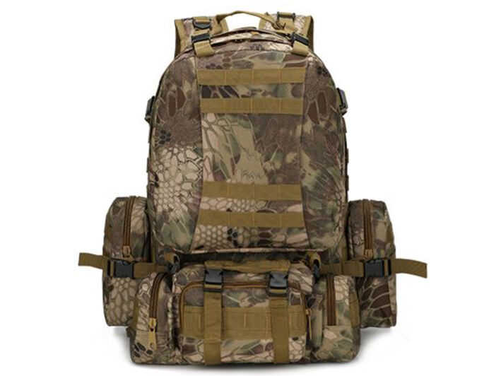 8L/10L/30L/55L/80L Outdoor Military Tactical Camping Hiking Trekking Backpack  55L Arid Pythons Grain