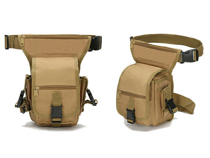 8L/10L/30L/55L/80L Outdoor Military Tactical Camping Hiking Trekking Backpack  2L Pouch Khaki