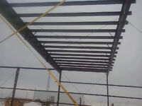 Steel erection, cladding